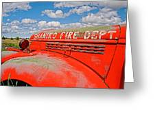 Shaniko Fire Truck Greeting Card