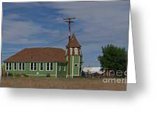 Shaniko School - 1901 To 1946 Greeting Card