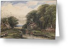 Shardlow Lock With The Lock Keepers Cottage Greeting Card