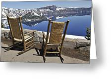 Share A Moment At Crater Lake Oregon Greeting Card