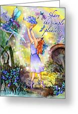 Share The Simple Pleasures Greeting Card