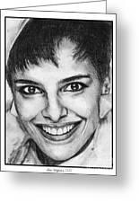 Shari Belafonte In 1985 Greeting Card