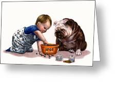 Sharing Food Greeting Card