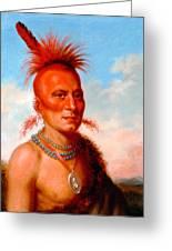 Sharitarish. Wicked Chief. Pawnee Greeting Card