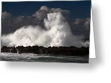 Sharks Cove Crashing Wave Greeting Card
