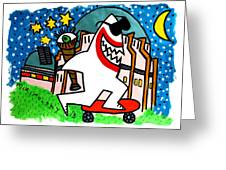 Sharks In The City - Griffith Observatory Greeting Card