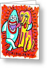 Sharks In The City - Pals Greeting Card