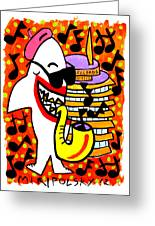 Sharks In The City - Capitol Records Greeting Card