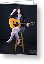 Sharon With Guitar Greeting Card