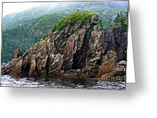 Sharp Jagged Rocks  Greeting Card