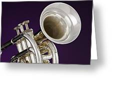 Sharp Silver Trumpet Greeting Card