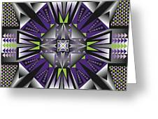 Sharp Tile Art D Greeting Card