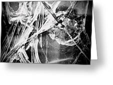 Shatter - Black And White Greeting Card