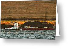 Shaver Tug On The Columbia River Greeting Card
