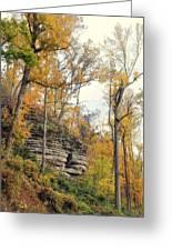Shawee Bluff In Fall Greeting Card