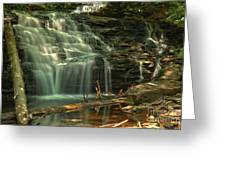 Shawnee Falls In The Spring Greeting Card