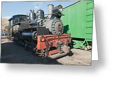 Shay Engine 12 In The Colorado Railroad Museum Greeting Card