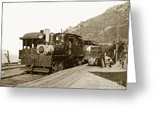 Shay No. 498 At The Summit Of Mt. Tamalpais Marin Co California Circa 1902 Greeting Card