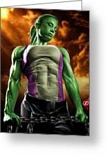 She-hulk 2 Greeting Card by Pete Tapang