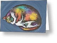 She Purrs In Color Greeting Card