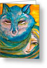 She Wolf Greeting Card