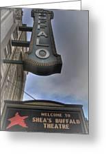Sheas Buffalo Welcome Greeting Card