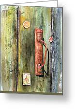 Shed Door Greeting Card