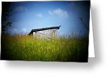 Shed In Field Greeting Card by Joyce Kimble Smith
