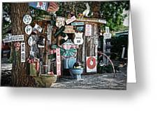 Shed Toilet Bowls And Plaques In Seligman Greeting Card by RicardMN Photography