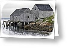 Sheds At Peggys Cove Greeting Card