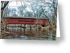 Sheeder - Hall - Covered Bridge Chester County Pa Greeting Card