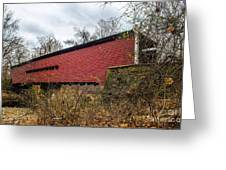Sheeder/hall Covered Bridge Greeting Card