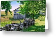 Sheep Barn Greeting Card