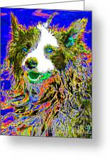 Sheep Dog 20130125v3 Greeting Card by Wingsdomain Art and Photography