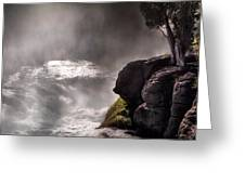 Sheep Falls Mist Greeting Card