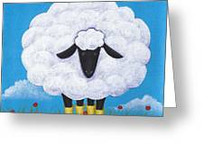Sheep Nursery Art Greeting Card