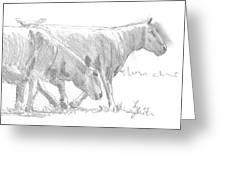 Sheep Walking Greeting Card