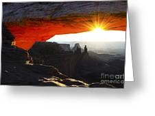 Sheer Magic Mesa Arch Utah Greeting Card