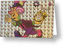 Sheet Of Mad Hatter Blotter Acid Greeting Card by Science Source