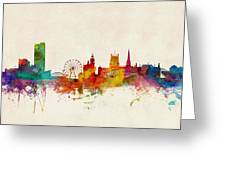 Sheffield England Skyline Greeting Card