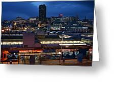 Sheffield Skyline At Night Greeting Card