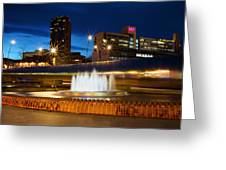Sheffield Water Feature Greeting Card