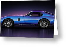 Shelby Daytona - Velocity Greeting Card by Marc Orphanos