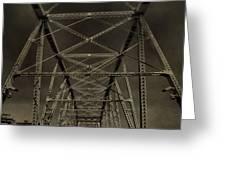 Shelby Street Bridge Details Nashville Greeting Card