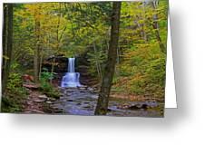Sheldon Reynolds Falls And Kitchen Creek Greeting Card