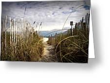 Shell Island Beach Access Greeting Card