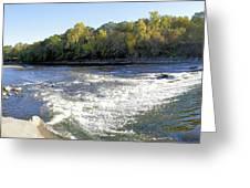 Shell Rock Dam Greeting Card