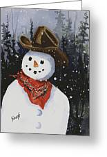 Shelly's Snowman Greeting Card