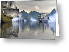 Shelter Harbor 2 Greeting Card by Claude McCoy