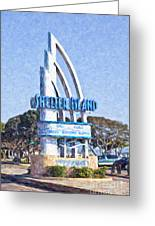 Shelter Island Sign San Diego California Usa Greeting Card
